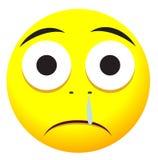 Traurige emoji Gesichtsikone Stockbild
