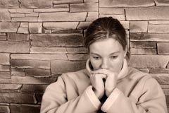 Traurige Frau Stockbild