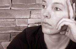 Traurige Frau Lizenzfreie Stockfotografie