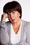 Traurige Frau Stockfoto