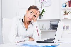 Traurige Frauenfunktion Lizenzfreies Stockbild