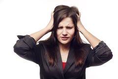 Traurige Geschäftsfrau Lizenzfreies Stockfoto