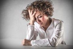 Traurige hoffnungslose Frau Stockfotografie