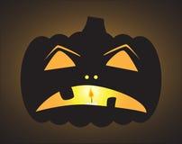 Traurige Jack O Laterne Halloweens Lizenzfreies Stockfoto