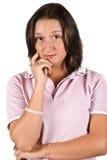 Traurige Jugendlichfrau Stockbild