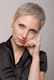 Traurige junge Dame Stockfoto