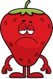 Traurige Karikatur-Erdbeere Stockfoto
