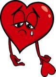 Traurige Karikaturillustration des defekten Herzens Lizenzfreie Stockfotografie