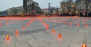 Traurige Kerzen Lizenzfreie Stockbilder