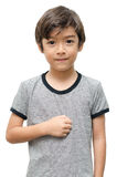 Traurige Kinderhandgebärdensprache Lizenzfreies Stockbild