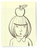 Traurige kleine Studentin Stockbilder