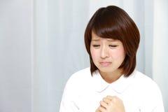 Traurige Krankenschwester lizenzfreie stockfotografie