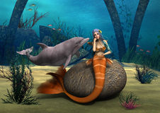Traurige Meerjungfrau Stockbilder