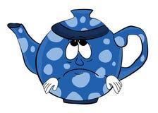 Traurige Teekannenkarikatur Lizenzfreie Stockfotos