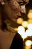 Traurige Witwe stockfotografie