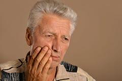 Trauriger alter Mann Stockfoto