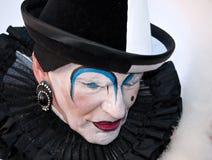 Trauriger Clown - Venedig-Karneval 2011 lizenzfreie stockbilder