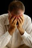 Trauriger deprimierter und einsamer Mann Lizenzfreie Stockfotografie