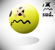 Trauriger Emoticon vektor abbildung