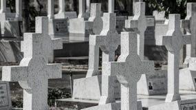 Trauriger Friedhof lizenzfreie stockfotografie