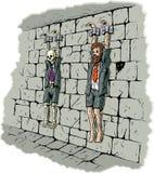 Trauriger Geschäftsgefangener Stockfotos