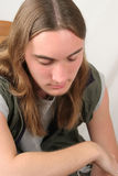 Trauriger jugendlich Junge Lizenzfreie Stockfotografie