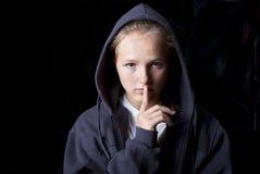 Trauriger Jugendlicher lizenzfreie stockbilder