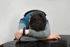 Trauriger Jugendlichjunge Lizenzfreies Stockbild