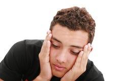 Trauriger Jugendlichportraitabschluß oben Lizenzfreie Stockbilder