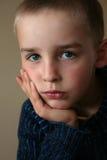 Trauriger Junge Stockbild