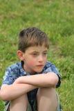 Trauriger Junge Stockfotografie