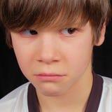 Trauriger Junge, der tyrannisiert wird Lizenzfreie Stockbilder