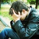 Trauriger junger Mann Lizenzfreie Stockbilder
