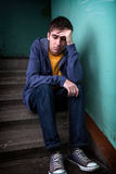 Trauriger junger Mann Lizenzfreies Stockfoto