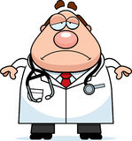 Trauriger Karikatur-Doktor Lizenzfreies Stockbild
