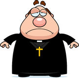 Trauriger Karikatur-Priester Lizenzfreies Stockfoto