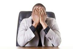 Trauriger, müder oder deprimierter Geschäftsmann Lizenzfreie Stockbilder