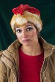 Trauriger schauender Weihnachtsmann Stockfotografie
