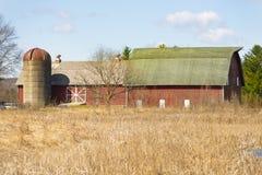 Trauriger Sojabohnenöl-Bauernhof stockbild