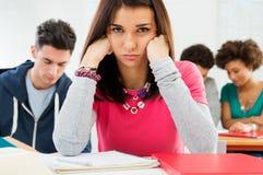Trauriger Student Stockfoto
