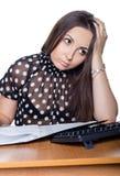 trauriger weiblicher Kursteilnehmer Lizenzfreies Stockfoto