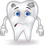 Trauriger Zahn Stockbild