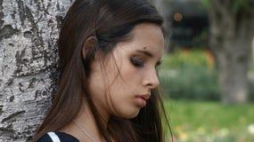 Trauriges deprimiertes jugendlich Mädchen Stockbilder