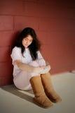 Trauriges deprimiertes jugendlich Mädchen Stockfoto