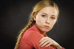Trauriges deprimiertes Mädchen Lizenzfreies Stockbild