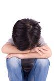Trauriges einsames Kind lizenzfreies stockfoto