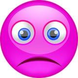Trauriges emoji mit schlechter Stimmung Stockbild