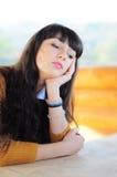 Trauriges Frauendenken Stockbilder