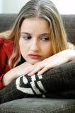 Trauriges Frauenportrait Stockbild