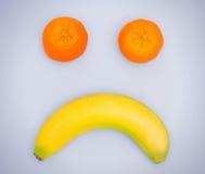 Trauriges Fruchtgesicht Lizenzfreie Stockfotos